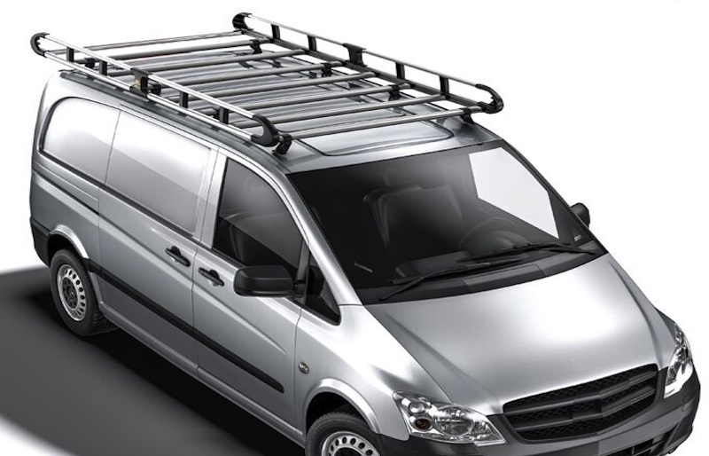 Navigate to the roof rack and van accessories section of the website