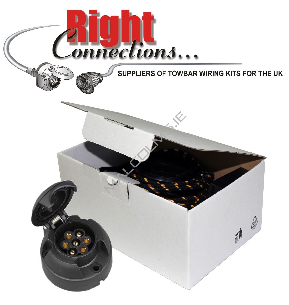 Towbar Accessories Wiring Kits Malcolms Towbars Dublin Caravan 12s Diagram Additional Dealer Coding May Also Be Required